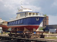На Средне-Невском судостроительном заводе состоялся спуск на воду головного катера проекта Р1650 «Рондо»