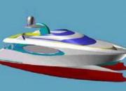 2000 — Модельные испытания быстроходного катамарана ASANTE 82
